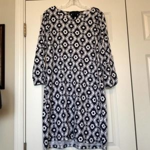 New Crown & Ivy Navy & White Dress, floral print